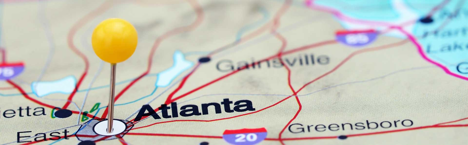 atlanta map pin